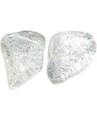 Balenciaga Ohrringe aus Harz - Weiß