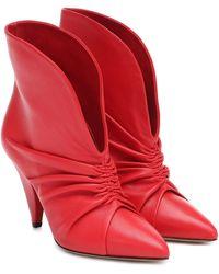 Isabel Marant Ankle Boots Lasteen aus Leder - Rot