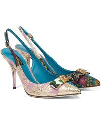 Dolce & Gabbana - Salones destalonados de brocado - Lyst