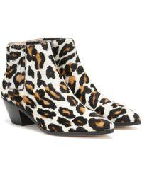 Nanushka Calf Hair Ankle Boots - Multicolour
