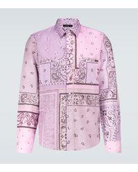 Amiri Bandana Reconstructed Flannel Shirt - Purple
