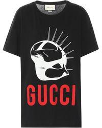 Gucci Mask Print T Shirt - Black