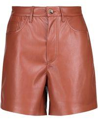 Nanushka Leana Faux Leather Shorts - Multicolour