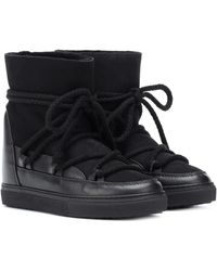 Inuikii Suede And Leather Ankle Boots - Black
