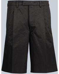 Prada Pantalones cortos con estructura - Negro