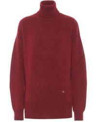 Victoria Beckham Jersey de cachemir de cuello alto - Rojo