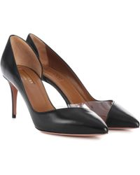 Aquazzura - Eclipse 75 Leather Court Shoes - Lyst