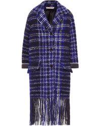 Marni Plaid Coat - Blue