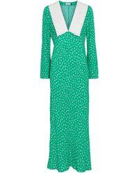 RIXO London Vestido midi Arielle floral - Verde