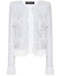 Balmain Exclusive To Mytheresa – Metallic Bouclé Jacket - White