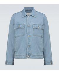 Nanushka Pax Denim Jacket - Blue