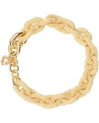 Bottega Veneta Vergoldete Halskette aus Sterlingsilber - Mettallic