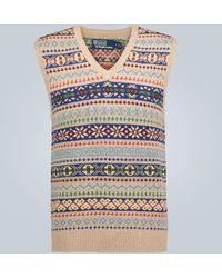 Polo Ralph Lauren Gilet en mailles Saranac Lake - Multicolore
