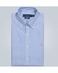 Polo Ralph Lauren Polo rayé classique en coton - Bleu