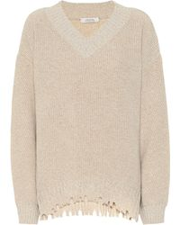 Dorothee Schumacher Fringe Vitality Wool And Cashmere Sweater - Multicolor