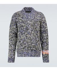 Jil Sander Jersey de jacquard de lana y cachemir - Gris