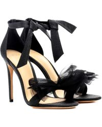 Alexandre Birman - Exclusive To Mytheresa. Com – Clarita Lamé And Tulle Sandals - Lyst