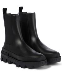 Moncler Coralyne Leather Chelsea Boots - Black