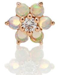 Maria Tash Boucle d'oreille unique Garland en or rose 18 ct, diamant et opales - Métallisé