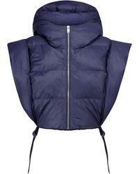 Étoile Isabel Marant Hoodia Cropped Puffer Jacket - Blue
