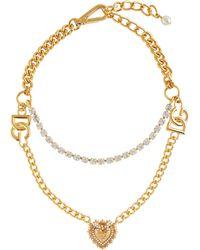 Dolce & Gabbana Verzierte Halskette - Mettallic