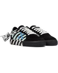 Off-White c/o Virgil Abloh Exclusive To Mytheresa – Low Vulcanized Suede Sneakers - Black