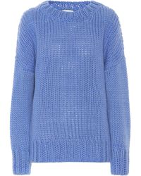 Dries Van Noten Pullover mit Wollanteil - Blau