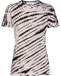 Proenza Schouler White Label Tie-dye Cotton T-shirt - Black