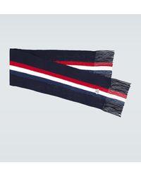 Moncler Schal aus Wolle - Blau
