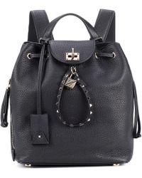 Valentino - Garavani Leather Backpack - Lyst