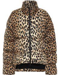 Balenciaga Leopard-print Puffer Jacket - Natural