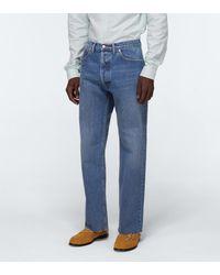 Maison Margiela Jeans cropped con lavado vintage - Azul