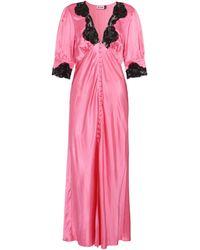 RIXO London Vestido Simone de satén con encaje - Negro
