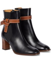 Loewe - Gate Leather Ankle Boots - Lyst