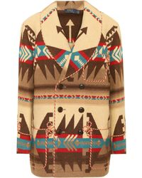 Polo Ralph Lauren Multiprint Double-breasted Coat - Multicolour