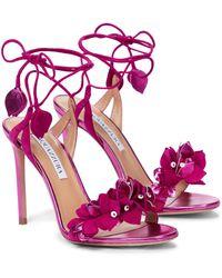Aquazzura Sandalen Bougainvillea 105 - Pink
