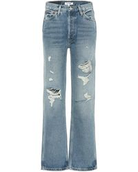 RE/DONE High-Rise Jeans 90s Loose - Blau