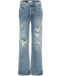 RE/DONE Jeans 90s Loose de tiro alto - Azul