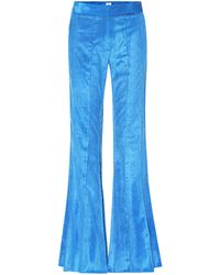 Rosie Assoulin - Pleated Flare Corduroy Pants - Lyst