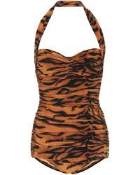 Norma Kamali Exclusive To Mytheresa – Bill Tiger-print Swimsuit - Orange
