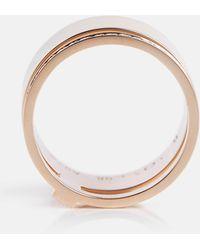 Repossi Ring Berbere Module aus 18kt Roségold mit Diamanten - Mettallic