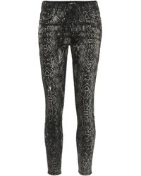 Amiri Laser Snake Stack Skinny Jeans - Black