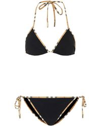 Burberry Triangel-Bikini - Schwarz