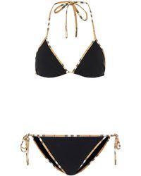 Burberry Bikini House Check - Nero