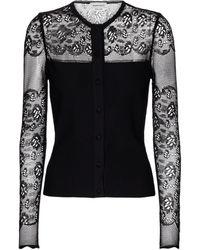 Alexander McQueen Lace-trimmed Cardigan - Black