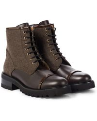Malone Souliers Bryce Leather Ankle Boots - Brown