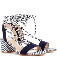 Gianvito Rossi - Antibes 60 Suede Sandals - Lyst
