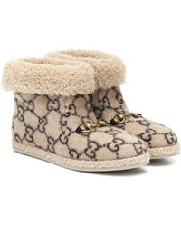 Gucci GG Wool Ankle Boot - Natural