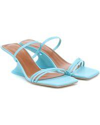 Rejina Pyo Romy Leather Sandals - Blue