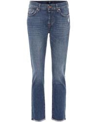 7 For All Mankind - Asher Mid-rise Boyfriend Jeans - Lyst